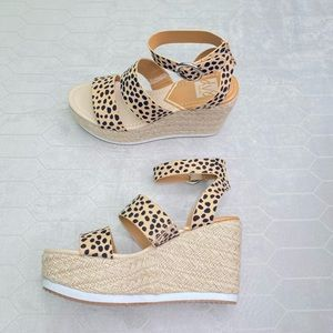 New Dolce vita leopard wedges size 7.5